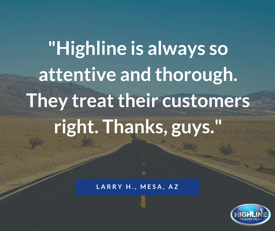 Highline Car Care Auto Repair in Mesa Review