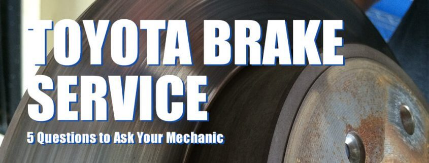 Featured Image for Toyota Brake Service