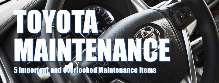 Featured Image for Toyota Maintenance Post