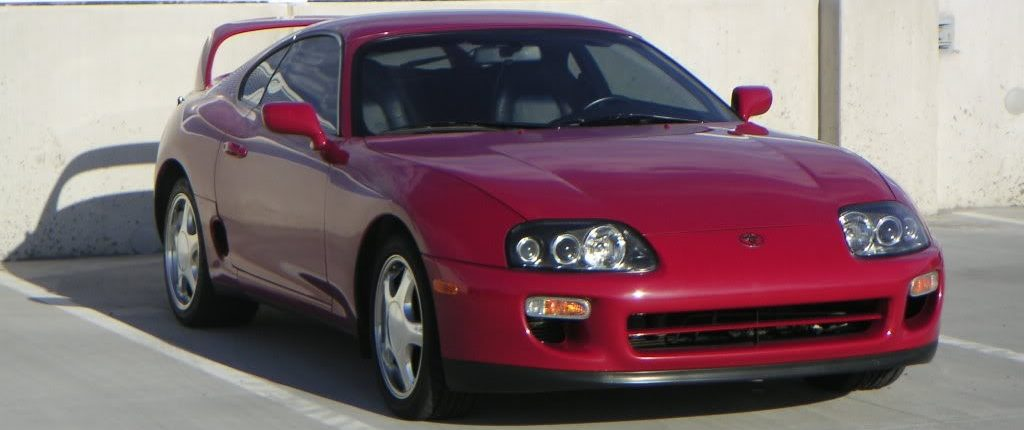 1998 Toyota Supra MKIV Renaissance Red Highline Car Care Mesa AZ