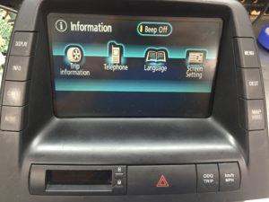 Toyota Prius MFD Navigation Touch Screen Repair Mesa AZ Highline Car Care