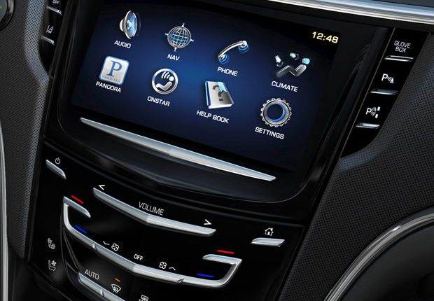 Infotainment navigation touch screen in modern car